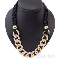 Women's Retro Rope Fashion Stylish Rock Hip Hop Punk Style  Chain Long Necklace 03ZF