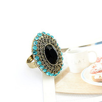 Ring vintage sparkling diamond female fashion full rhinestone gem open ring 2804