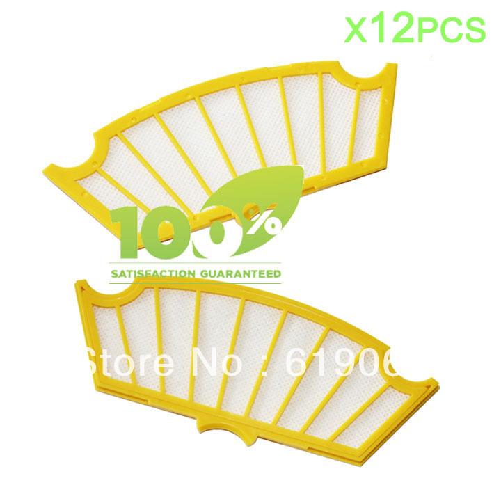 12 Piece Replacement Filter for iRobot Roomba 500 510 530 540 550 560 580 Vacuum(China (Mainland))