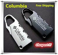 New 2015 Famous Brand Imported Hard alloy lock anti-theft lock hook lock padlock Coded lock Luggage locks 3 Pieces/Lot