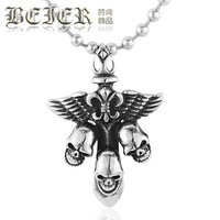 Beier male punk pendant fashion buckle skeleton titanium steel pendant punk gothic accessories