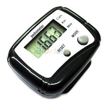 1pc Negro LCD paso podómetro contador de calorías Corta distancia Deporte Podómetro 04AT(China (Mainland))
