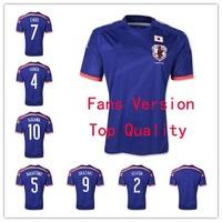 Fans Version Thai Quality 2014 World Cup Japan Home Blue Jersey  ENDO HONDA KAGAWA  NAGATOMO OKAZAKI UCHIDA Soccer Uniforms