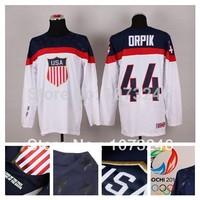 Wholesale USA Brooks Orpik Jersey #44 White Personalized Make Customized Custom 2014 Sochi Team American Ice Hockey Jerseys