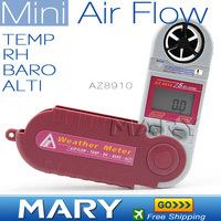 AZ8910 Foldable Mini Wind speed Meter 5 in 1 digital anemometer-Wind speed/temperature/humidity/Barometric pressure/Altitude