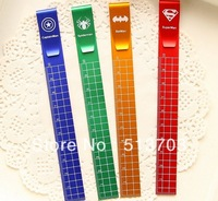 The Avengers Bookmarks With 10cm Scale Aluminium Ruler Japan Korea Children Student Gift