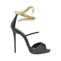 2014 Summer new fashion gold snake metallic black leather women pumps,design high heels sandal wedding dress shoes for woman