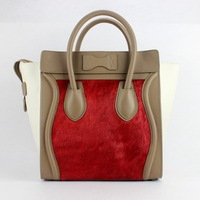 2014 new arrival LUGGAGE handbag multicolor 30cm,fashion brand tote bag NO.88022-horsehair middle