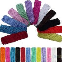 Hot Sale 12pcs Cute Crochet Headbands Hair Head Band Bow Kid Baby Girl Accessories 03ZO