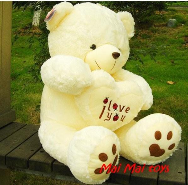 new year gift christmas gift Hold the heart bear love panda bear large teddy bear hug heart heart bear plush toy doll(China (Mainland))