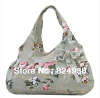 Bow hand a small bag canvas handbag fashion leisure shopping bag small green