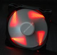 MY FFS Mute black box white leaf Red LED Light 120MM 12025 case cooling fan