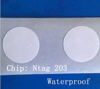 Free shipping 100pcs/lot  nfc Ntag203 tag 13.56MHZ 144BYTE RFID for e-wallet for s4 Nexus4 Nexus10 Blackberry i9500