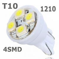 500x T10 194 168 1210 4SMD 4 LED 4 smd 4led high power LED light Bulbs white super bright Parking Light Turn Lamps