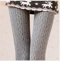 2014 new fashion 100% quality cotton women's  pantyhose autumn and winter warm leggings beauty your leg soft elasticity
