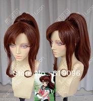 HOT Sell! Sailor Moon Jupiter Makoto Kino Brown Cosplay Party Wig