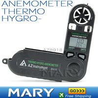 AZ8918 Digital anemometer Mini Wind speed Meter MINI TYPE Thermometer Hygrometer anemometer