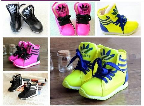 zapatos de deporte infantil masculino las niñas zapatos botas de cuero zapatos de los deportes bola botas casual zapatos de skate