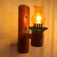 Chinese style vintage bamboo personalized wall lamp living room lights bedroom lamp bar lights aisle lights balcony lamp