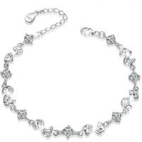 [Free Shipping] 925 Sterling Silver Romantic Sparkle Zirconium Diamond Bracelet