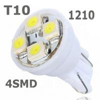 100x T10 194 168 1210 4SMD 4 LED 4 smd 4led t10 led high power LED light Bulbs green Car Light Bulbs DC12V Indicator Light