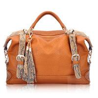 women handbag shoulder bags vintage snake leather tassel fashion bag handbag fringe