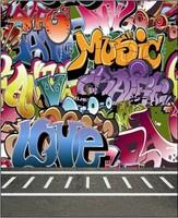 5X7ft Graffiti Background For Photo Studio Muslin Digital Cloth Vinyl Backdrop Photography Backdrops Fabric Backgrounds
