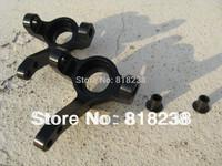2Pack Hobby Rc Car Aluminum Steering Block for Axial SCX10 Scorpion Black Colors
