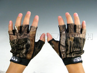 New !Gloves 5 No Finger Camo camouflage Fishing Hunting Glove
