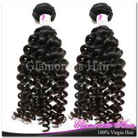 DHL Free Shipping Glamorous Princess Hair 4 Bundles a Lot Virgin Remy Hair Eurasian Hair Deep Wave