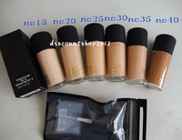1PC brand makeup liquid Foundation Studio fix fluid SPF 15 Foundation 30ML 6 color (NC15,NC20,NC25,NC30,NC35,NC40)