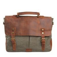 Men vintage business bag men's messenger bag genuine leather casual canvas bags handbags