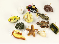Free shipping  resin sea animal Cabinet DRAWER Pull Dresser pull/ Kitchen  knob door handel with screw 10pcs/lot
