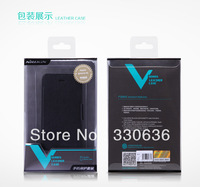 Genuine Brand NILLKIN Victory Series Flip Leather Cover + Hard Case Skin Mix for Apple iphone 4 4S 4G 100pcs/lot