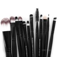 Pro 15pcs Make Up Brush Set Kit Foundation Eyeshadow Mascara Lip Brush W119