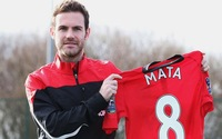 Player version 2013/14 MUCF  8#  mata jerseys home red jerseys Away blue mata embroidery logo football jersey  football suit