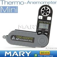 NEW AZ8908 Digital anemometer MINI TYPE Thermometer anemometer Mini Wind speed Meter