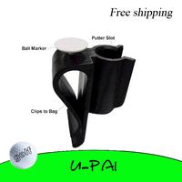 Free Shipping! Golf Putter Clip Ball Marker Golf Putter Caddy