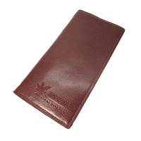 Leather man's long design wallet   Cow Leather wallets Business walet  gifts  Free Shiping