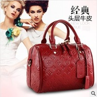 2014 Brand Design High Quality Woman Fashion Bag Genuine Leather Totes Bag Handbag Women Totes Lady Cowhide Casual Shoulder Bag