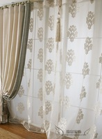new 2014 white jacquard curtains for windows screening for living room cortinas draperies tulles for the bedroom window curtain
