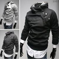 NEW Hot High Collar Men's Jackets ,Men's Sweatshirt,Dust Coat ,Hoodies Clothes,Fashion inclined zipper sweatshirt