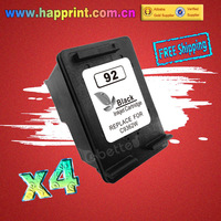 Ink Cartridge for hp92 hp 92 C9362WN for hp inkjet printers 7850 C3140 C3150 C3180 C4180 PSC1507 1510 1510v 1510xi...(4PK)