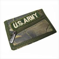 Camouflage navy paragraph . sports casual wallet coin purse wallet canvas Men velcro zipper multi-layer
