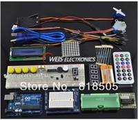 1 set Starter Kit for Arduino / Step Motor / Servo / 1602 LCD / Breadboard / jumper Wire / UNO R3 learning board ,free shipping,