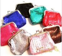 2013 New High Quality Cheap Mini Cotton Sequin Women Coin Purses.