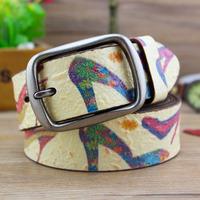 100% genuine leather belts for women love pattern for men and women belt as best gift