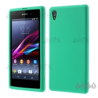 For Sony Xperia Z1 Honami L39h C6903 Silicone Case Cover - Green Free Shipping Wholesale