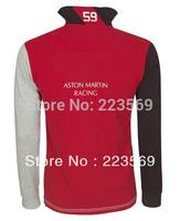2014 Cotton long new JACKET polos turn-down collar shirts red blue yellow green mens t-shrts  size  m l xl xxl
