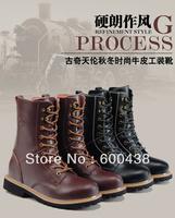 Free shipping,2014 Guciheaven Fashion Men Boots fashion Leisure Knight boots 39~44,5585